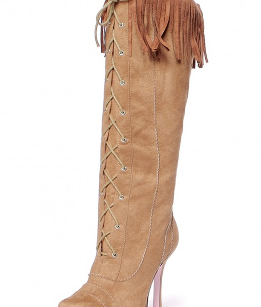 Sexy Suede Fringe Boots