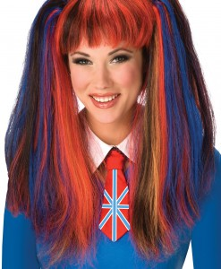 British School Girl Costume Wig