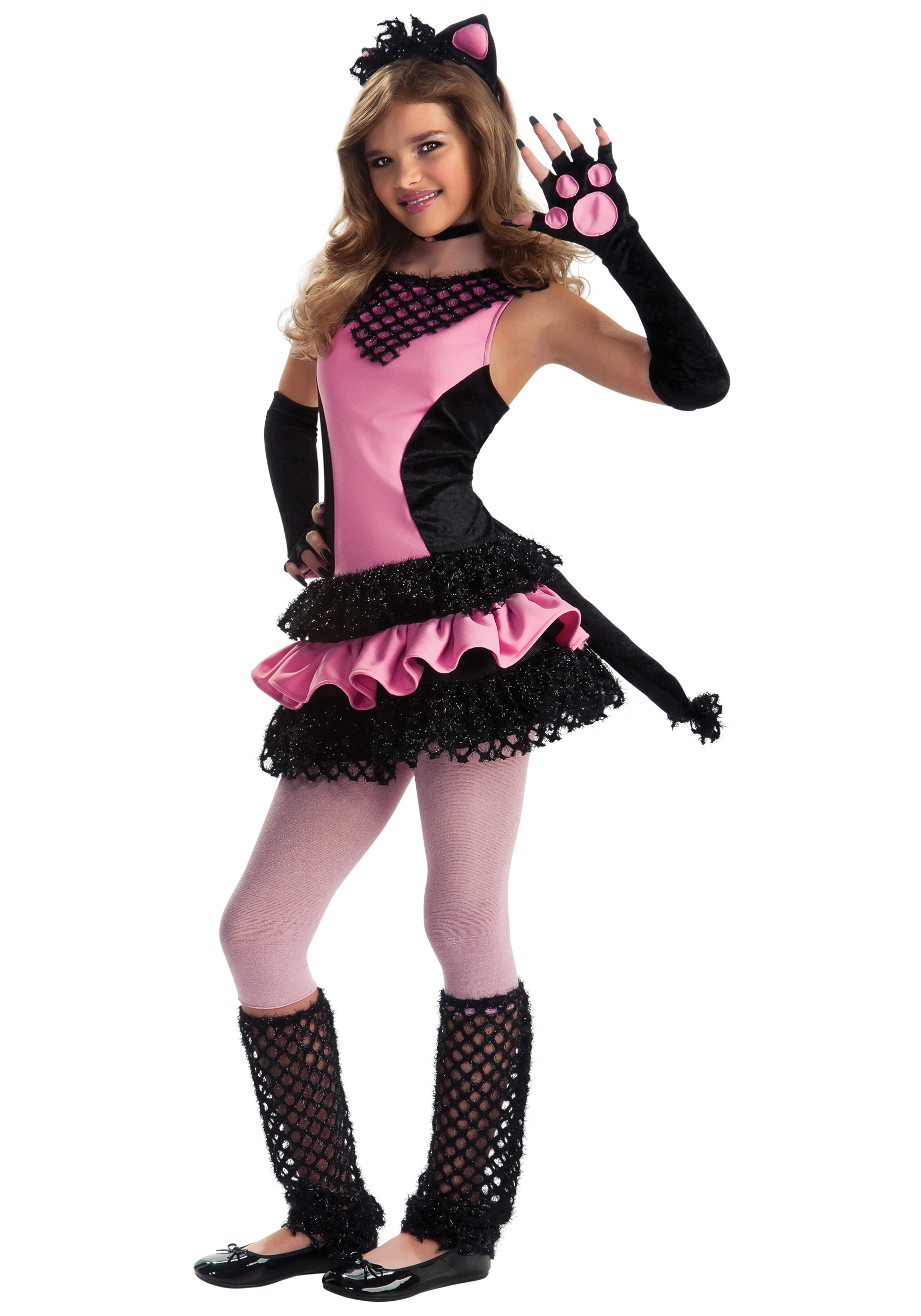 tween black kitty costume