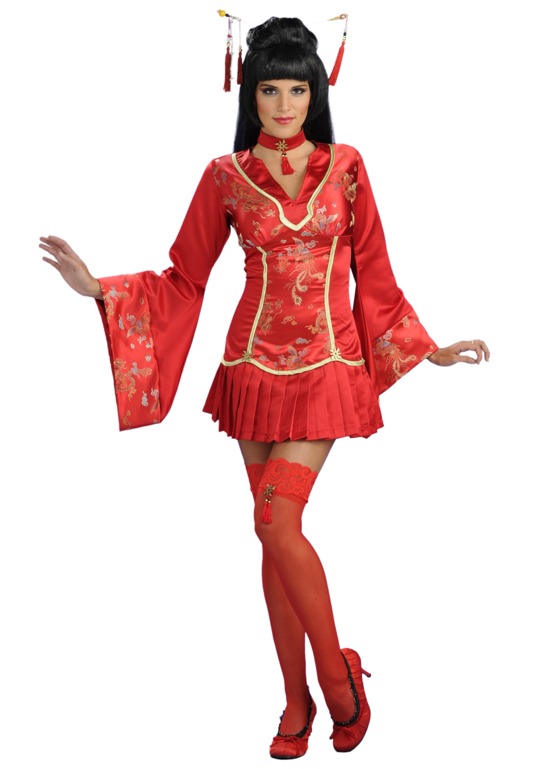 Costume geisha halloween teen