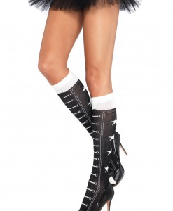 Faux Lace Up Athletic Socks