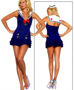 Ruffled Sailor Dress Costume
