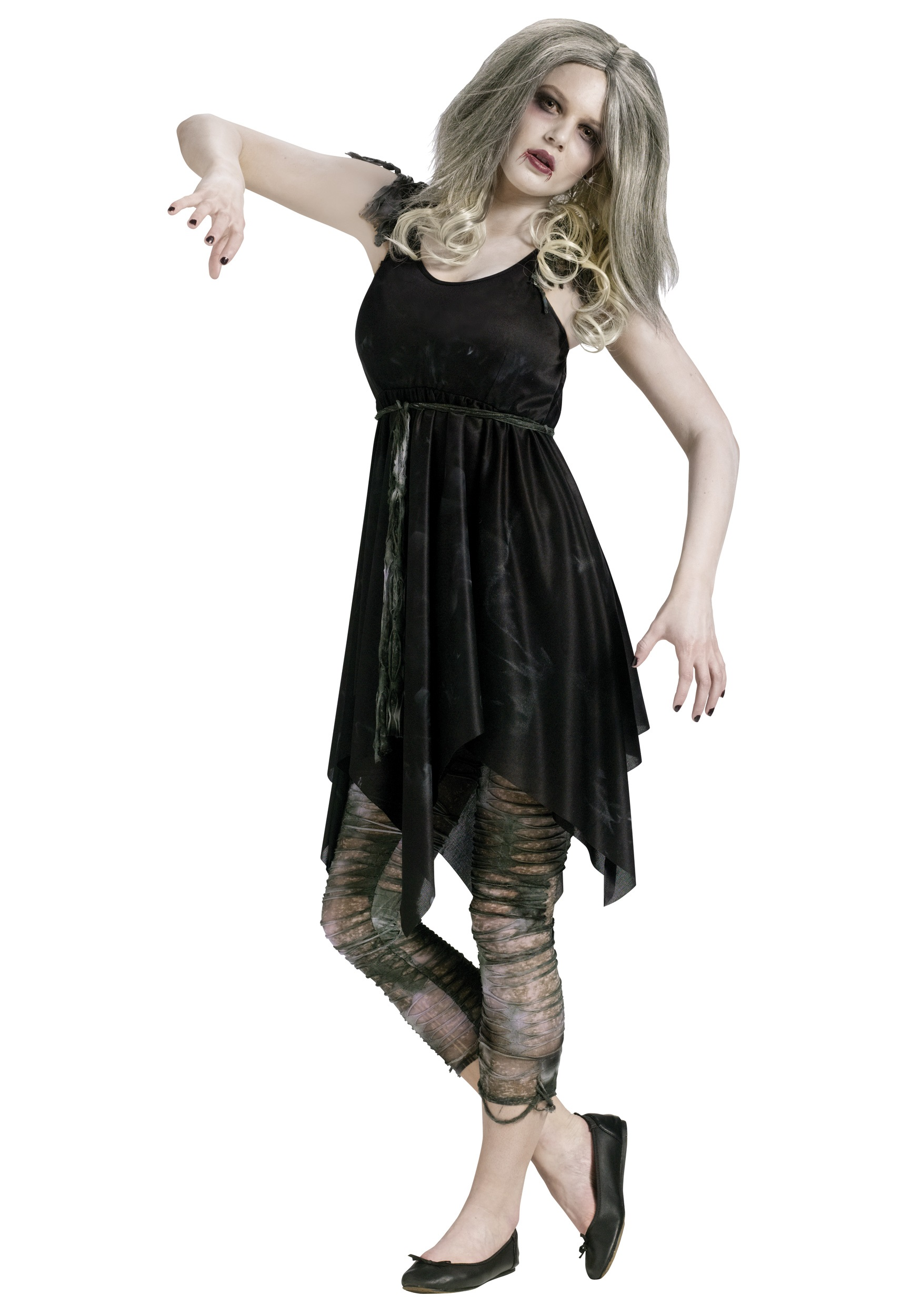 Halloween Zombie Costumes For Girls.Teen Night Zombie Costume