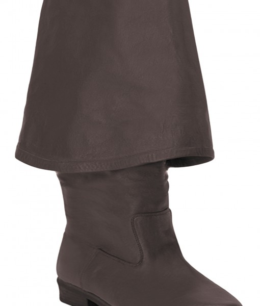 Brown Leather Pirate Boots