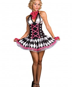 Sexy Harlequin Clown Costume