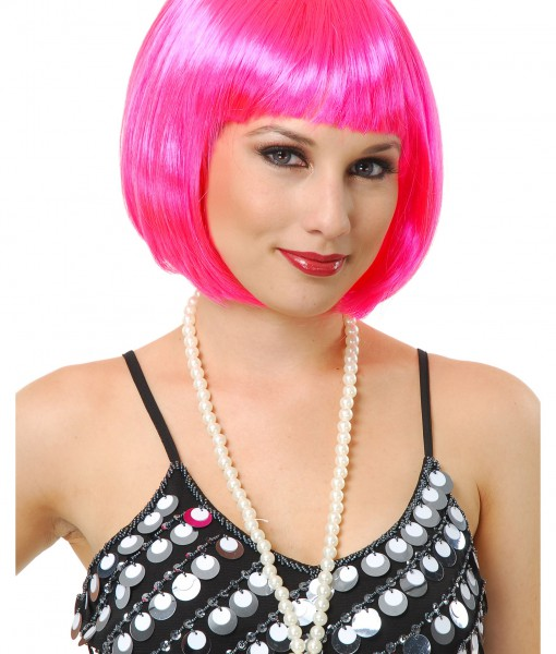 Halloween Costume Ideas For Girls With Short Hair.Short Bob Hot Pink Wig