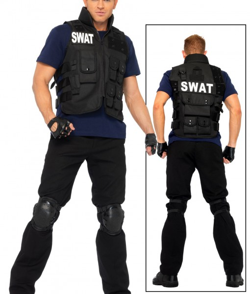 Plus Mens SWAT Team Costume