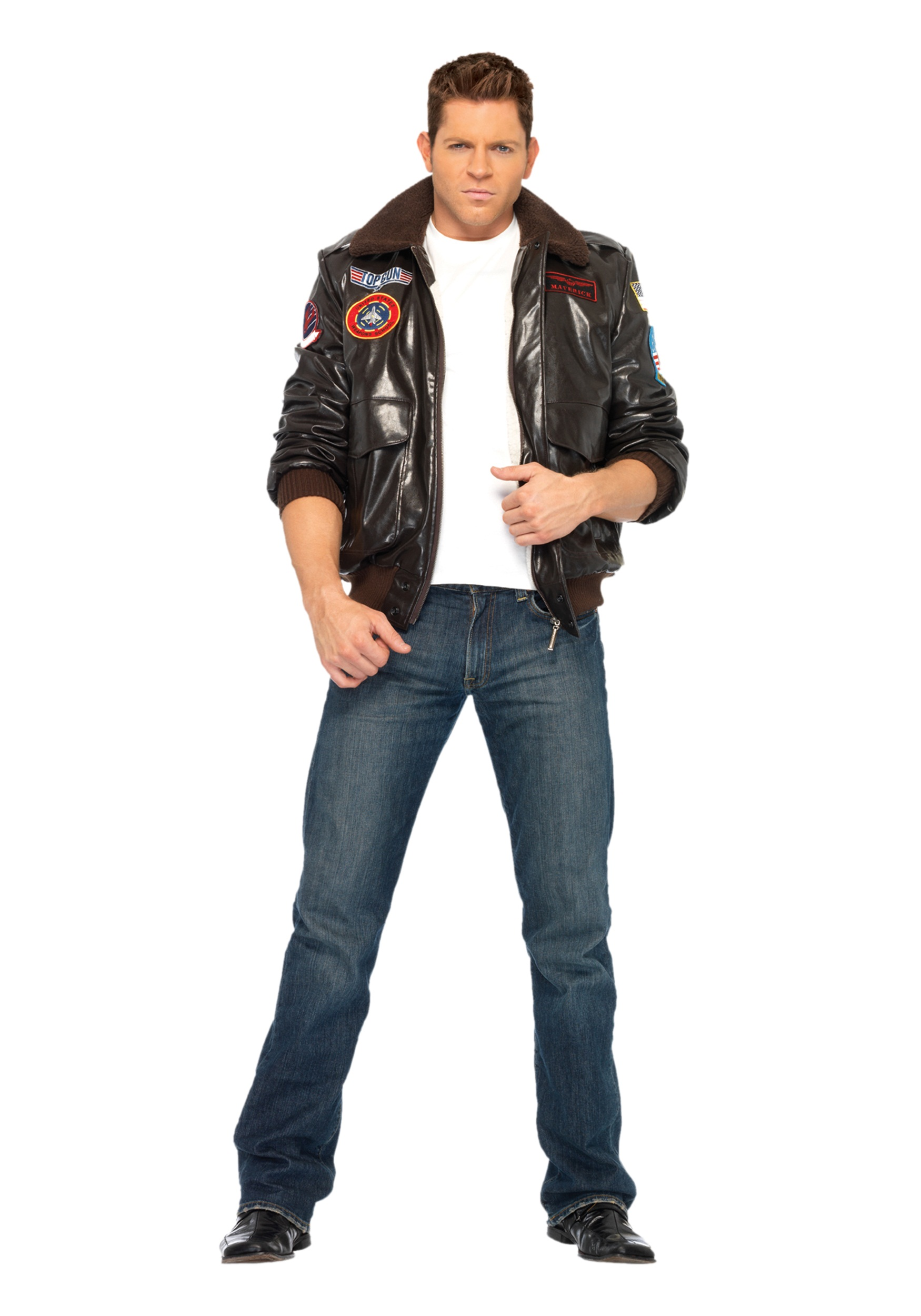 Mens Top Gun Bomber Jacket  sc 1 st  Halloween Costumes : easy mens 80s costume  - Germanpascual.Com