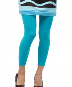 Sky Blue Crayon Leggings
