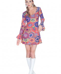 70s Sexy Psychedelic Dress