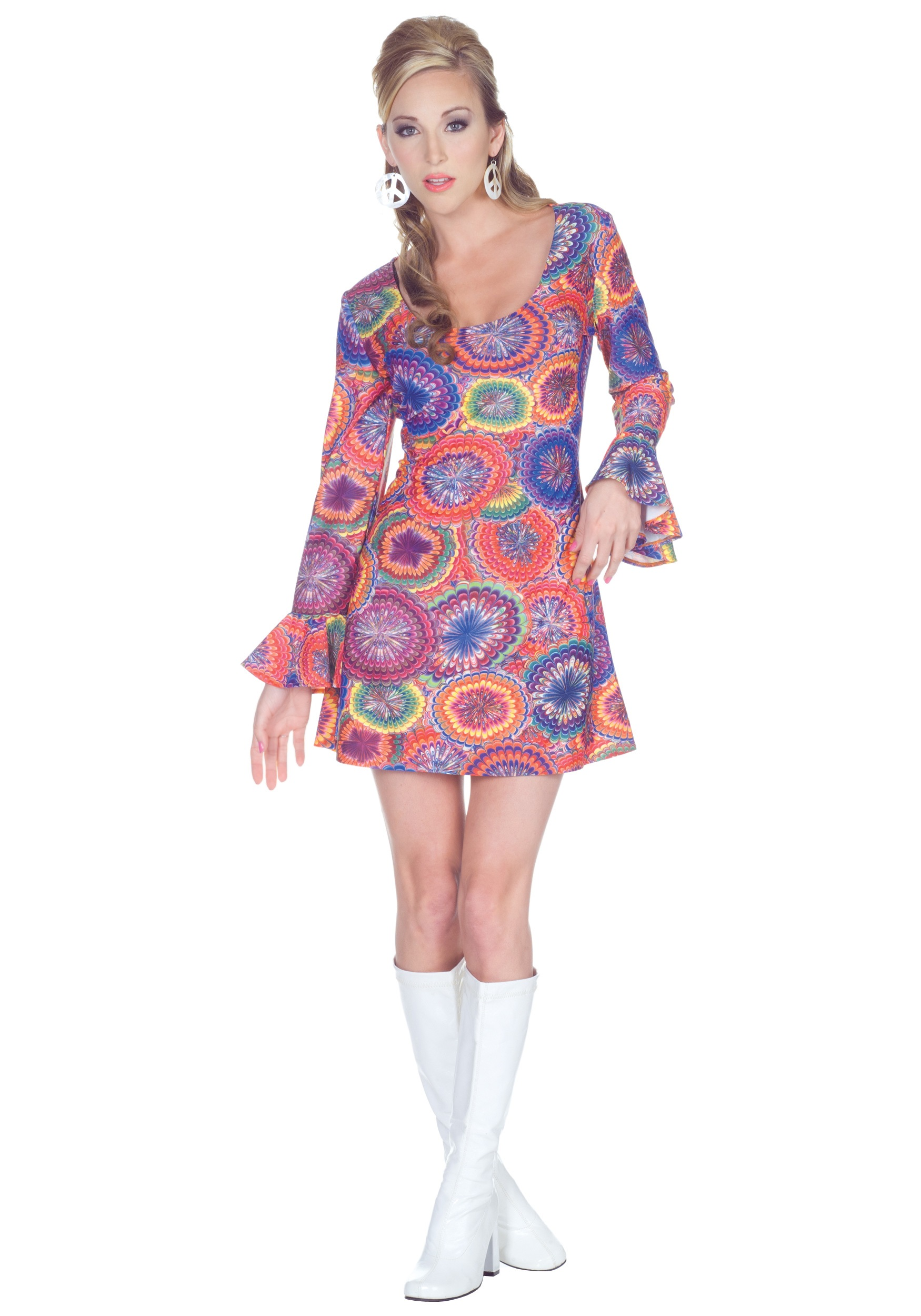 70s Sexy Psychedelic Dress - Halloween Costume Ideas 2016