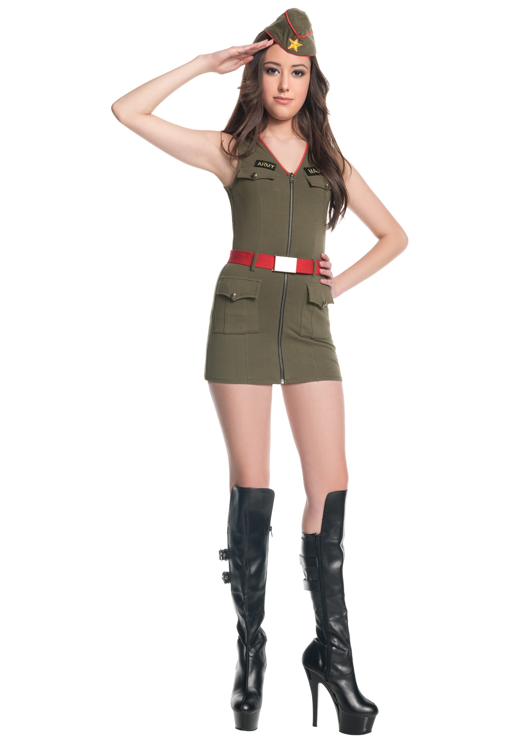 teen major trouble army costume