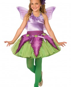 Child Purple Flower Fairy Costume
