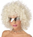 Blonde and Silver Disco Wig