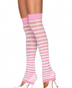 Pink and White Leg Warmers