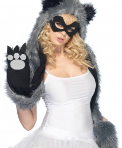 Raccoon Hood w/ Paws and Mask
