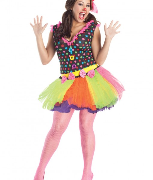 Plus Size Clownin Around Costume