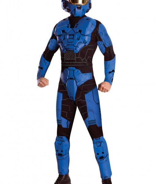 Deluxe Halo Blue Spartan Costume