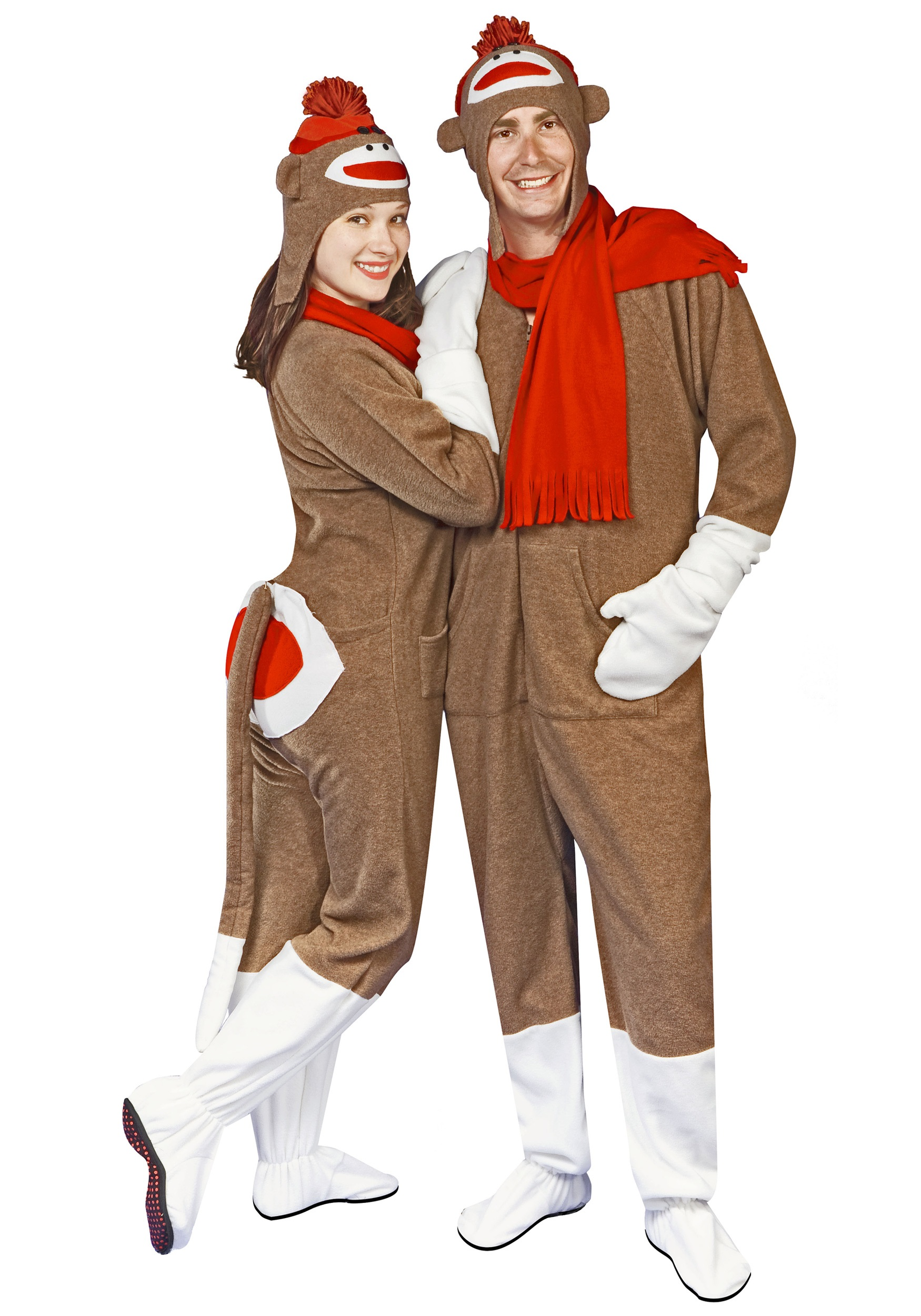 sock monkey pajama costume - halloween costume ideas 2018