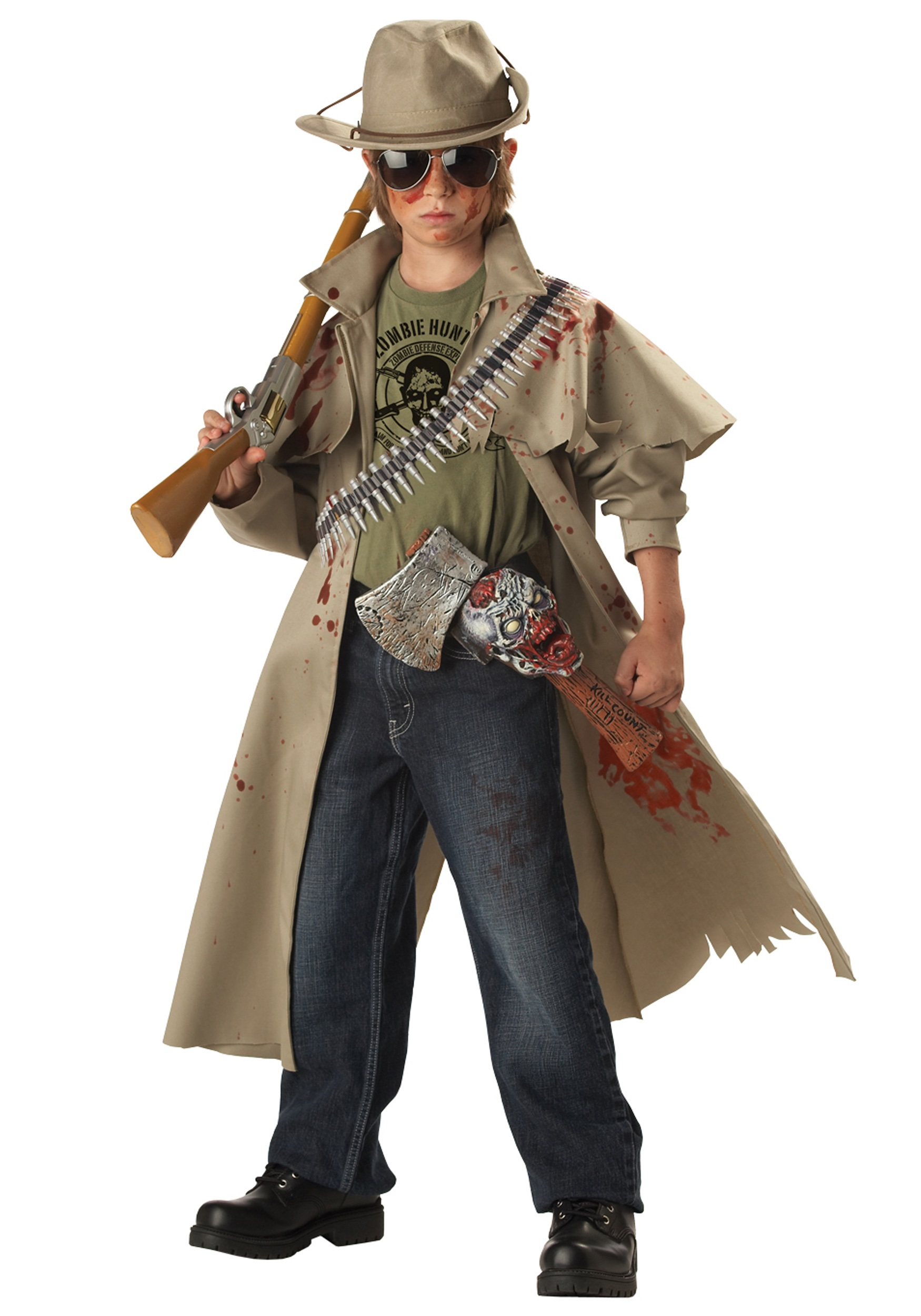 child zombie hunter costume - halloween costume ideas 2018