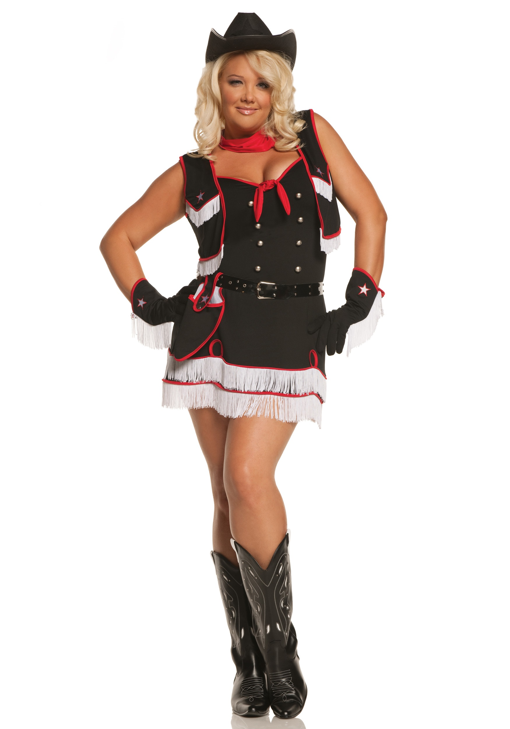 plus size dirty desperado cowgirl costume
