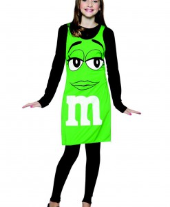 Tween M&M Green Tank Dress