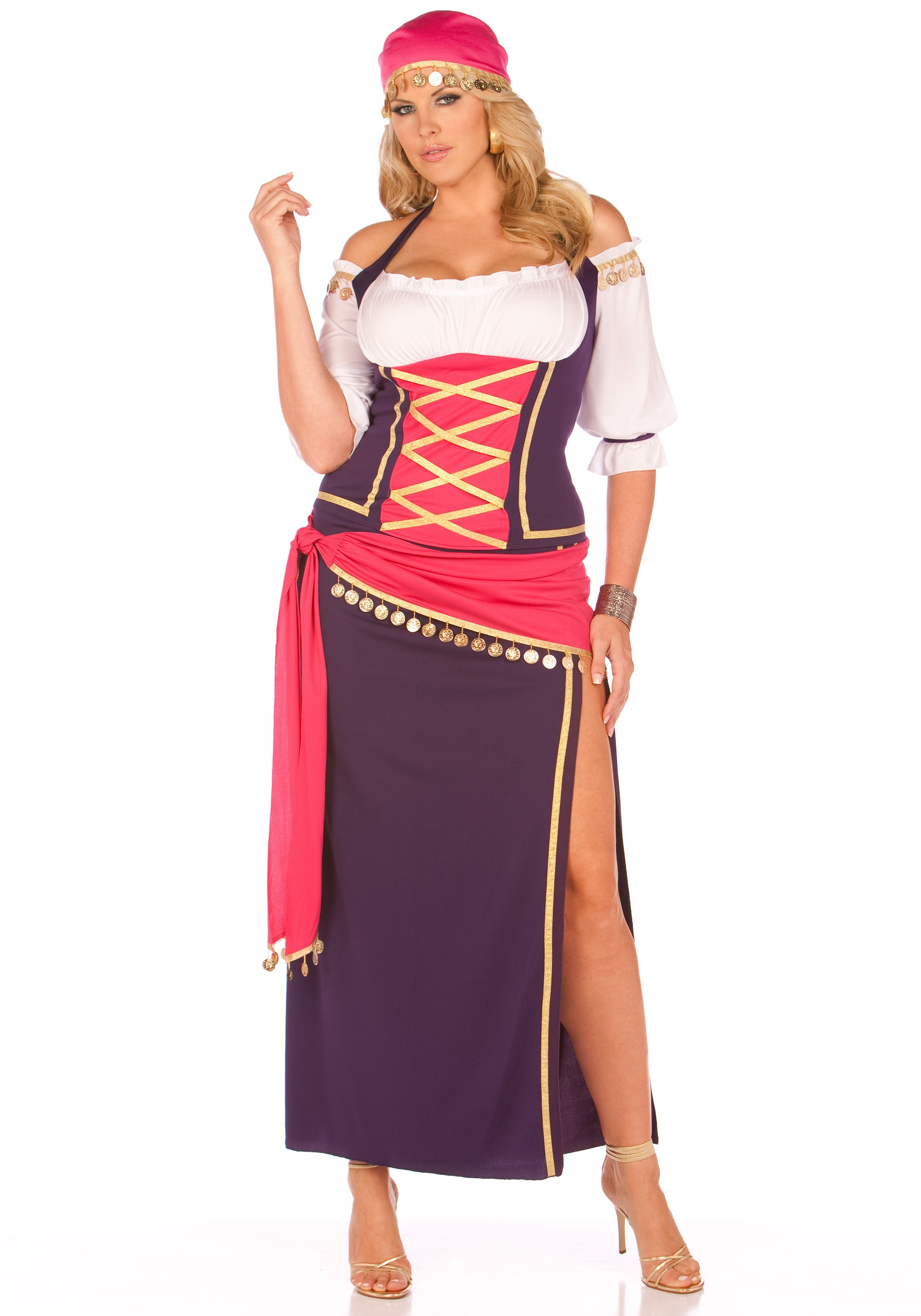 plus gypsy maiden costume - halloween costume ideas 2018