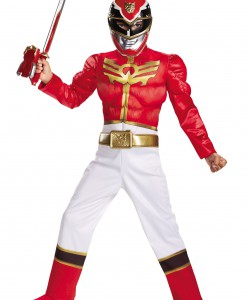 Boys Red Ranger Megaforce Classic Muscle Costume