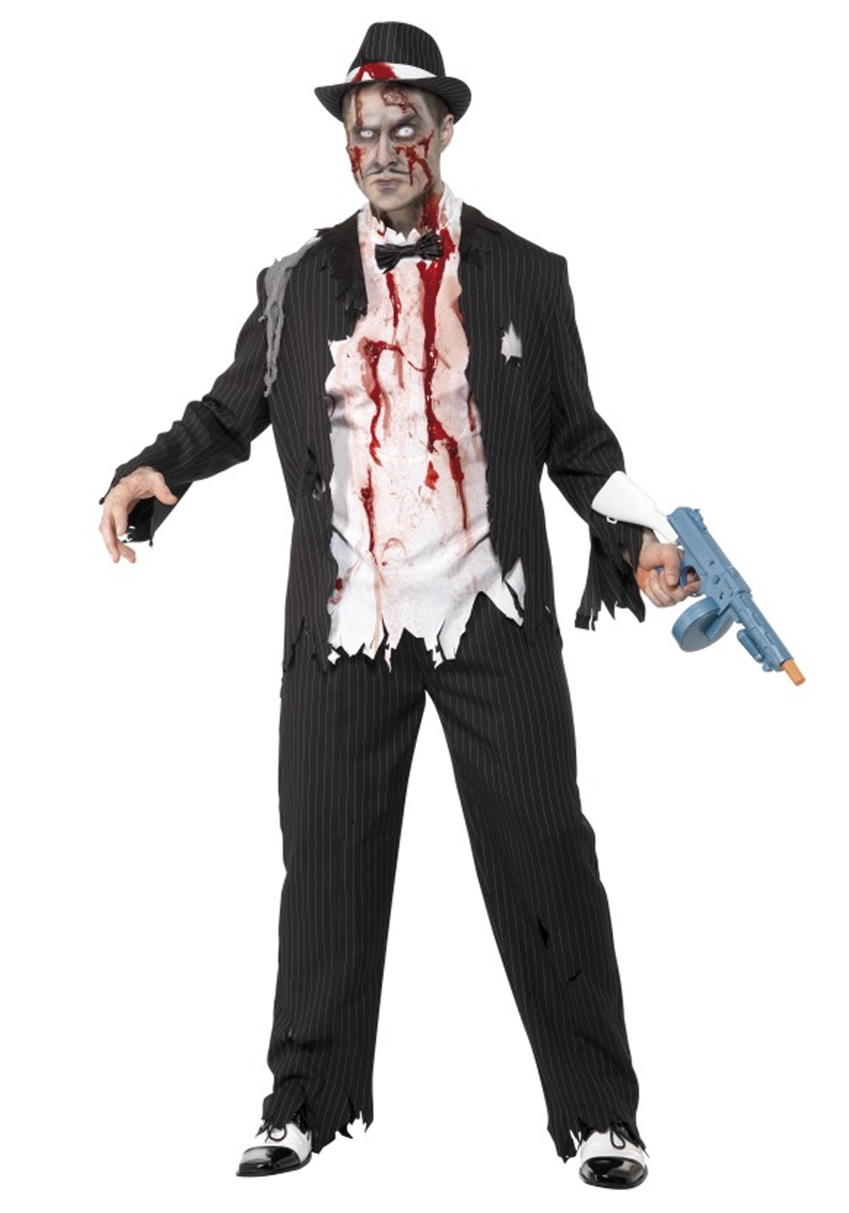 zombie gangster costume - Halloween Mobster Costumes