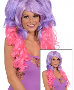 Purple/Pink 3 Piece Wig