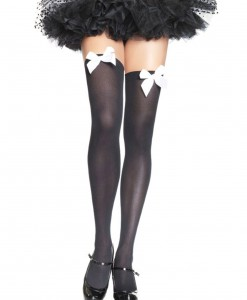 Black Stockings with White Bows