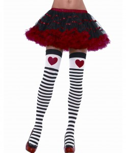Striped Stockings with Red Heart