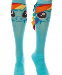 Rainbow Dash With Ribbon Mane Knee High Socks