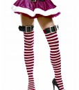 Red/White Striped Stockings w/Belt Buckle