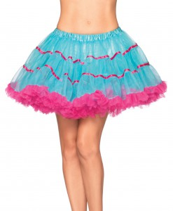 Turquoise and Neon Pink Petticoat