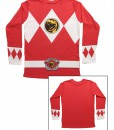 Red Power Rangers Long Sleeve Costume Shirt