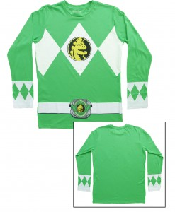 Green Power Rangers Long Sleeve Costume Shirt