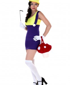 Sexy Plus Size Purple Plumber Costume