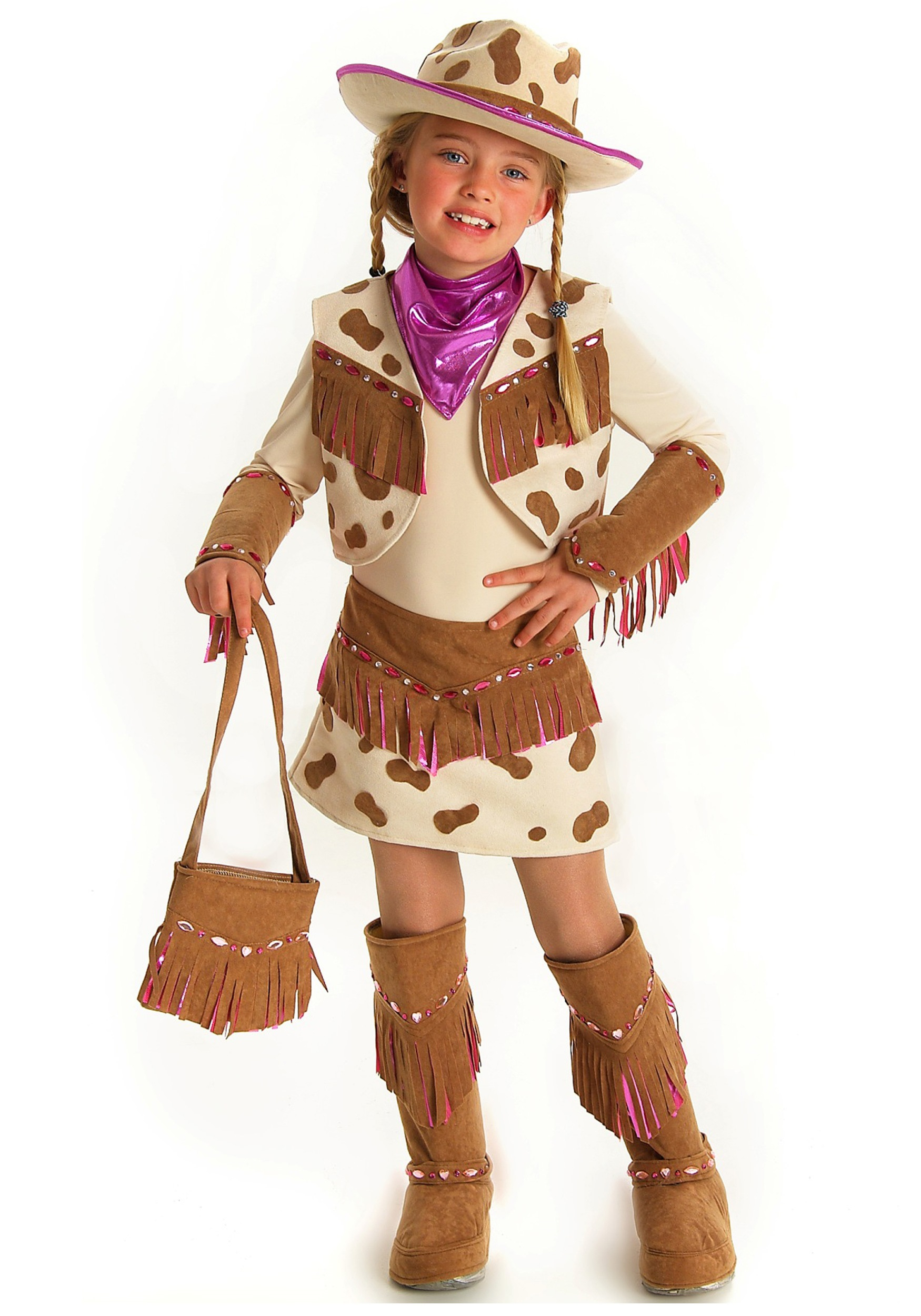 girls rhinestone cowgirl costume - halloween costume ideas 2018