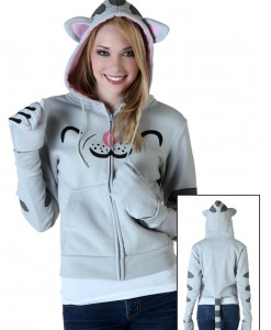 Womens Soft Kitty Hoodie