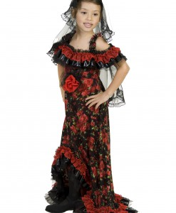 Red Rose Spanish Dancer Costume
