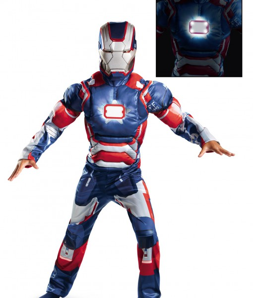 Kids Iron Patriot Muscle Light Up Costume