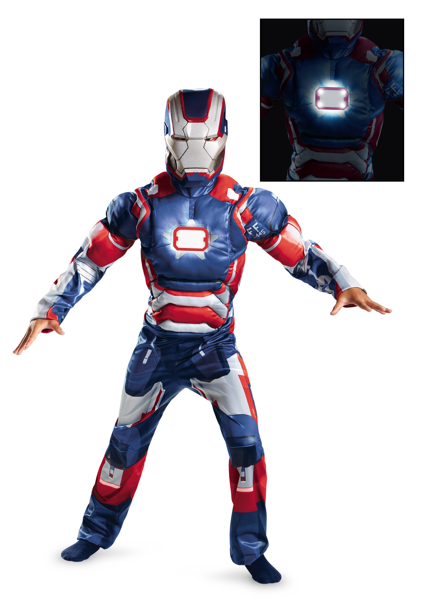 Kids Iron Patriot Muscle Light Up Costume  sc 1 st  Halloween Costumes & Kids Iron Patriot Muscle Light Up Costume - Halloween Costume Ideas 2018