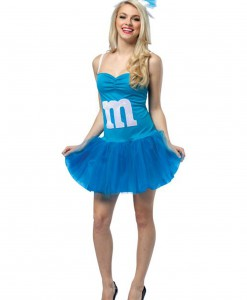 Womens M&M Blue Party Dress