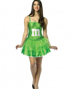 Womens M&M Green Party Dress