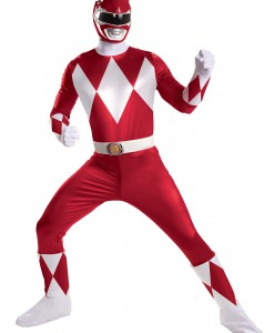 Red Ranger Super Deluxe Adult Costume