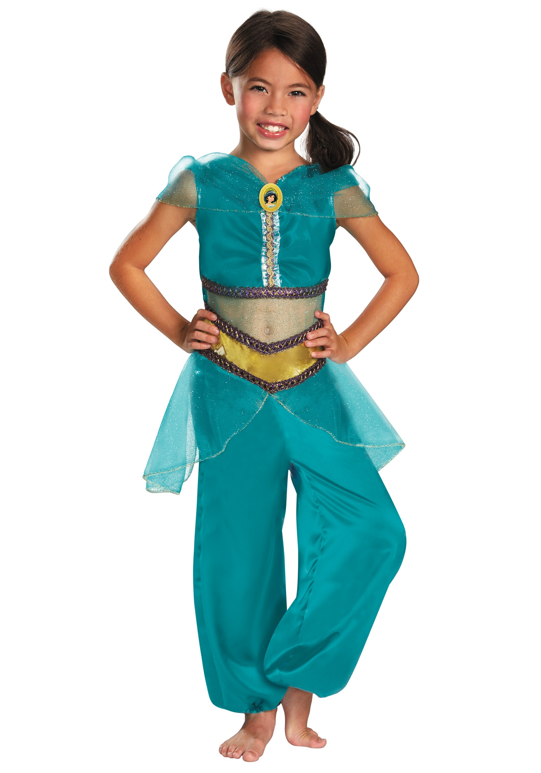 Girls Jasmine Sparkle Classic Costume  sc 1 st  Halloween Costumes : disney dress up costumes  - Germanpascual.Com