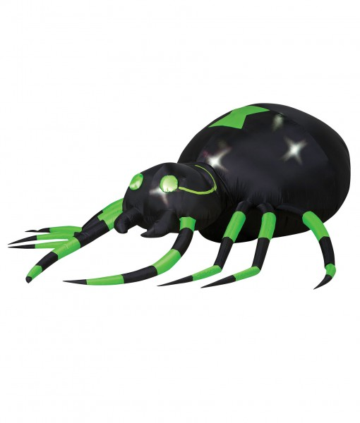 Animated Airblown Green Spider