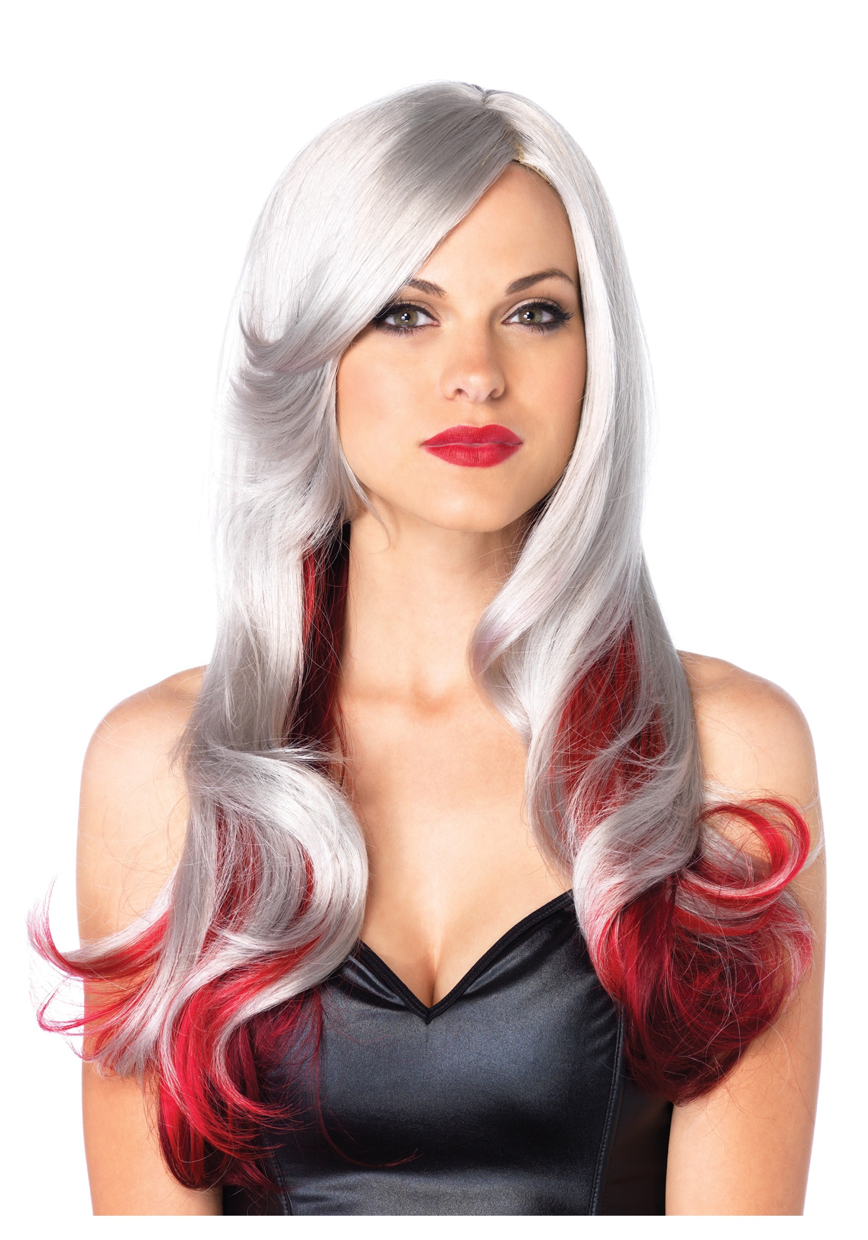 Red And Gray Two Toned Wig Halloween Costume Ideas 2018