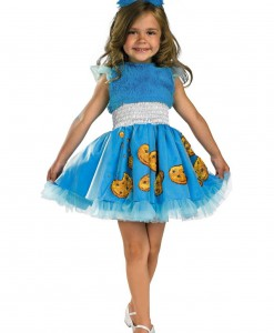 Girls Frilly Cookie Monster Costume